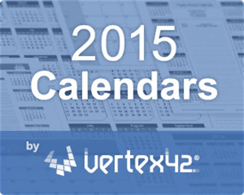 vertex42 calendar template vertex42 the guide to excel in everything