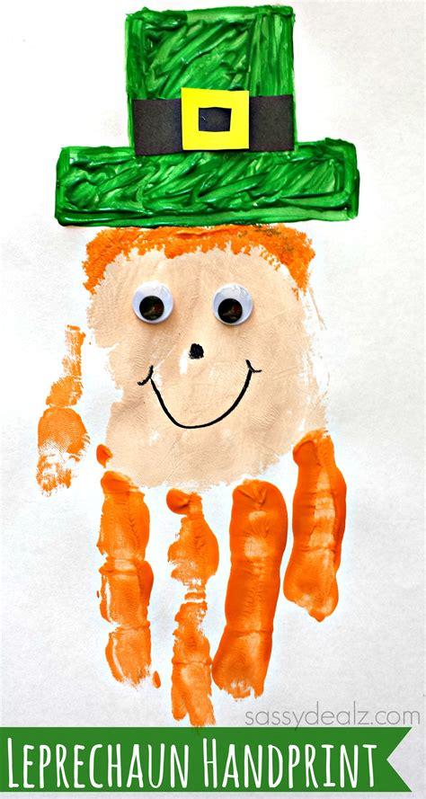 handprint crafts leprechaun handprint craft for st patricks day idea