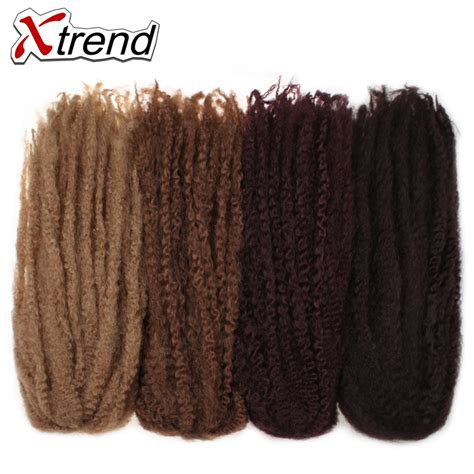 1 pack marley hair xtrend synthetic marley braids crochet hair afro twist