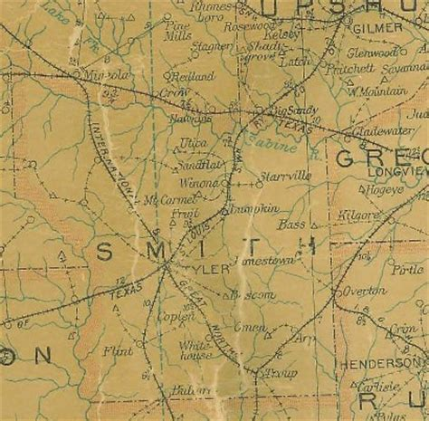 map of smith county texas flint texas