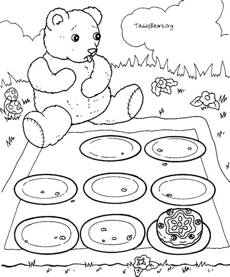 free coloring pages of teddy bears picnic