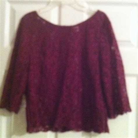 10 Mus Crop Maroon 77 forever 21 tops maroon lace crop top from margaret s closet on poshmark
