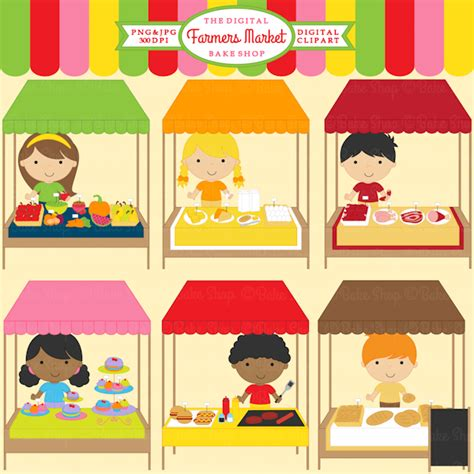 d r fruit market farmers market clipart 13 graphics included for