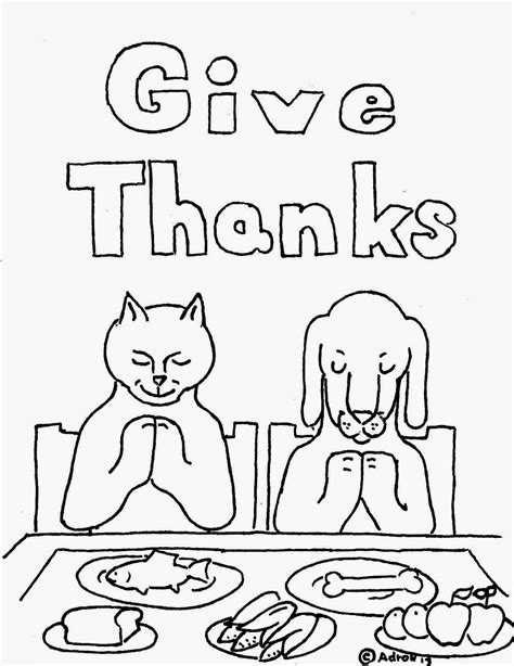 coloring pages for kids by mr adron animals give thanks
