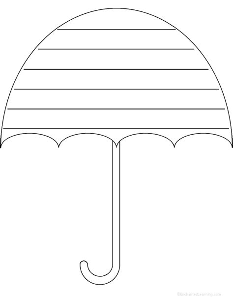 printable umbrella template for preschool umbrella template printable cliparts co
