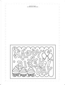 birthday coloring card template 42 best birthday card ideas images on