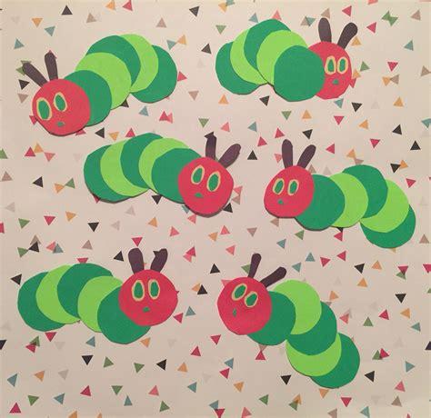 hungry caterpillar cutouts for centerpiece handmade