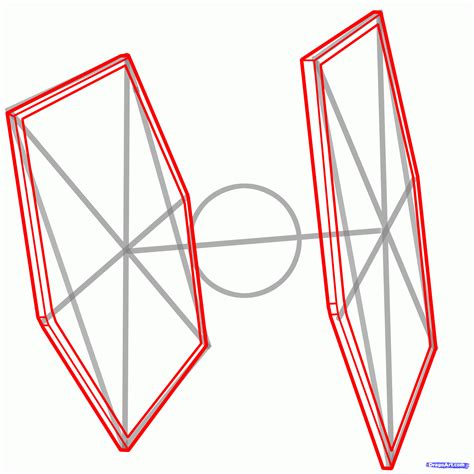 how to draw a tie fighter tie fighter wars step 4