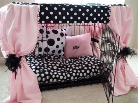 girl dog beds dog crate cover ensemble a way to make the dog crate look cute love it animal
