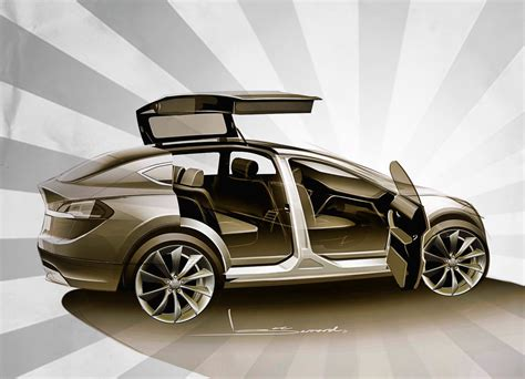 Tesla Wing Doors Tesla Model X Confirmed With Awd And Falcon Wing Doors
