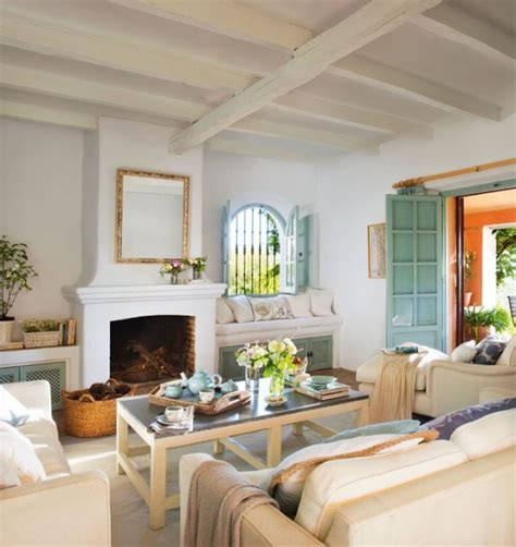 revistas decoraci n salones natural beauty and charming colors in a spanish vacation home