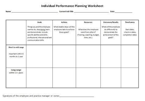 goal setting for employees template best photos of employee goal setting worksheet employee
