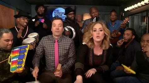 jimmy fallon house band adele and the roots perform hello on jimmy fallon with classroom instruments stuff co nz