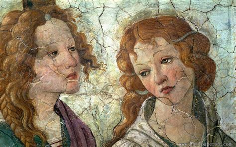 botticelli venus the fresco of two girls paintings wallpapers free