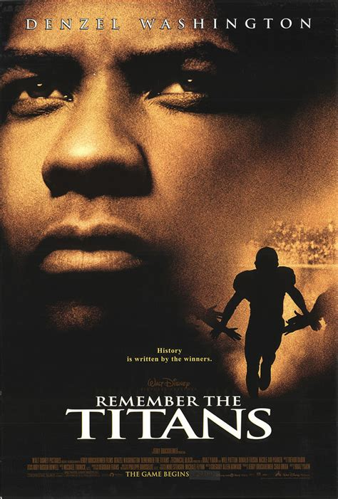 biography movie remember the titans 2000 original movie poster biography