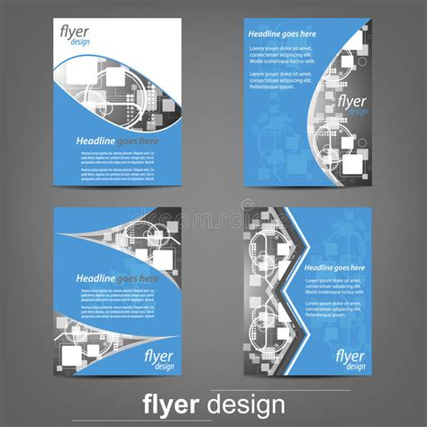 flyer template editor set of business flyer template corporate banner or cover