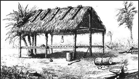 the seminole indians of florida genealogy trails happy image gallery seminole chickee