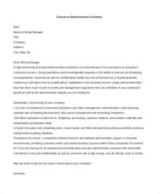 executive assistant cover letters sle administrative assistant cover letter 7 free
