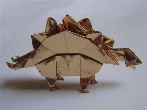 stegosaurus origami stegosaurus montroll happy folding