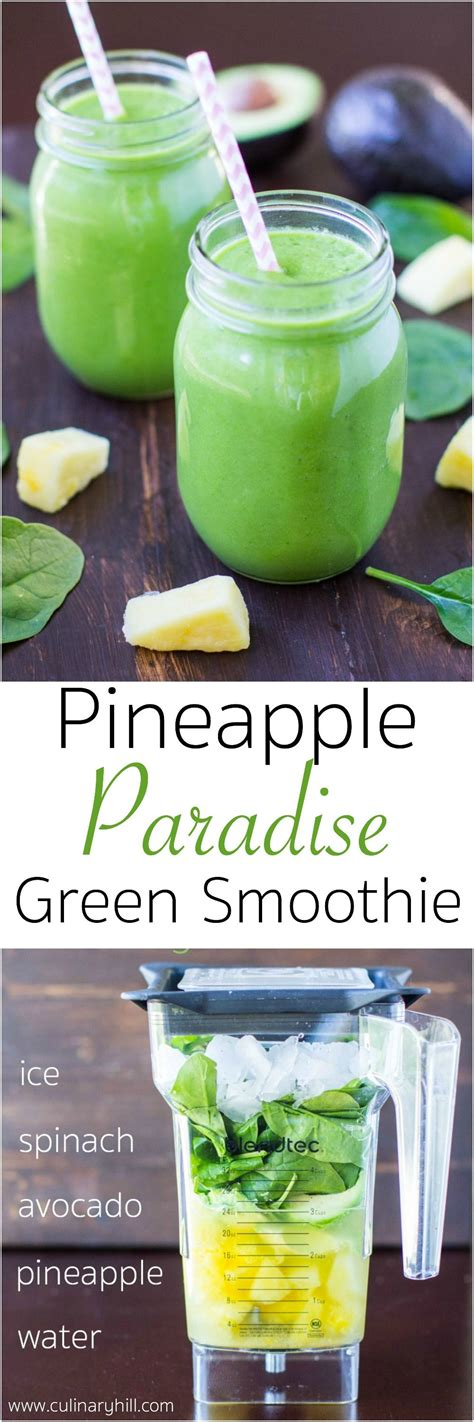 Green Detox Smoothie With Pineapple by Pineapple Paradise Spinach Smoothie Recipe Spinach