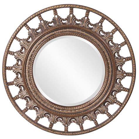 designer mirrors unique round mirror with antique accents hre 077 accent