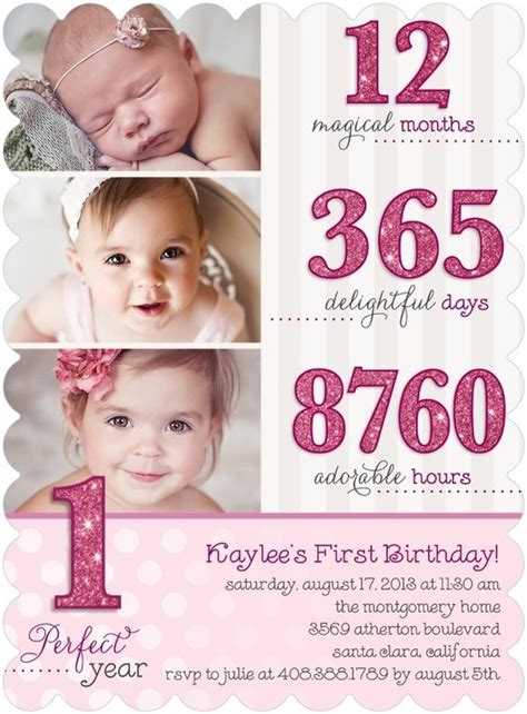 1st year birthday card template birthdays cards and 1st birthday invitations on