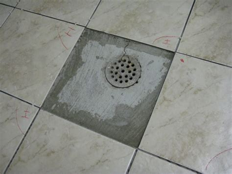 Tile around basement floor drain   Basement Gallery