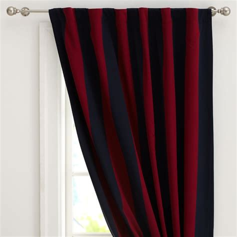 Rugby Stripe Curtains Rugby Stripe Curtains Entrancing Rugby Blackout Panel Pottery Barn Inspiration Design