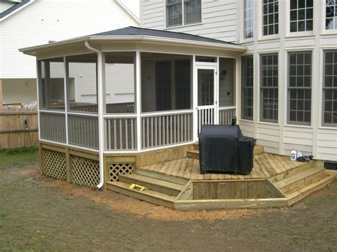 screened in deck plans modern shed roof screened porch plans