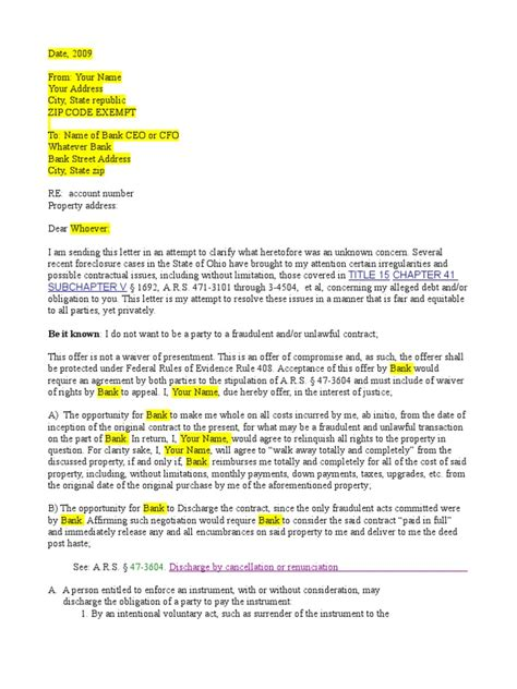 Mortgage Discharge Letter Canada Mortgage Discharge Letter Foreclosure