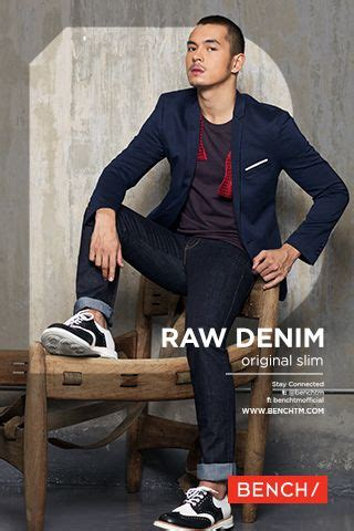 jake cuenca cut styles raw denim by bench featuring jake cuenca the year of