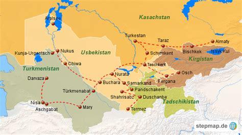 usbekistan regionen karte usbekistan karte von asienteam landkarte f 252 r usbekistan