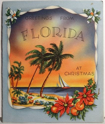 florida vintage christmas card vintage christmas images pinterest merry