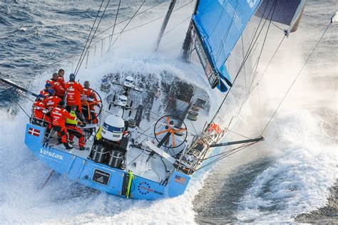 volvo ocean race vestas  hour racing leads   sailing magazine