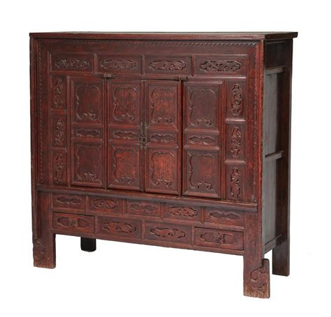 18th c chinese kitchen cabinet 18th century chinese lacquer carved paneled or coffered