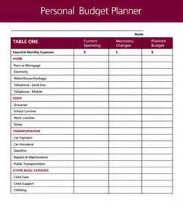 personal monthly budget template best photos of sle personal monthly budget personal