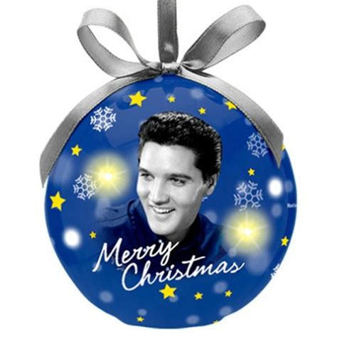 elvis presley blue ornament with led light