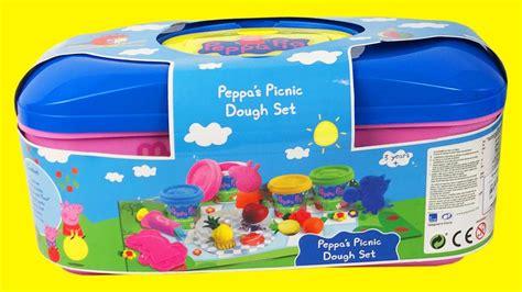 speelgoed filmpjes klei filmpje met peppa pig vormpjes en picnick set