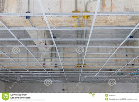 installation of false ceiling royalty free stock images