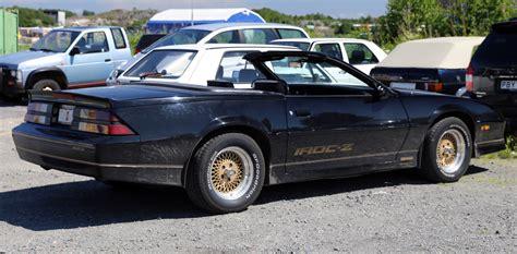 1992 camaro iroc z file 1988 chevrolet camaro iroc z convertible rear side