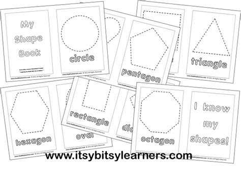 printable shapes booklet shapes coloring book downloadable it s free