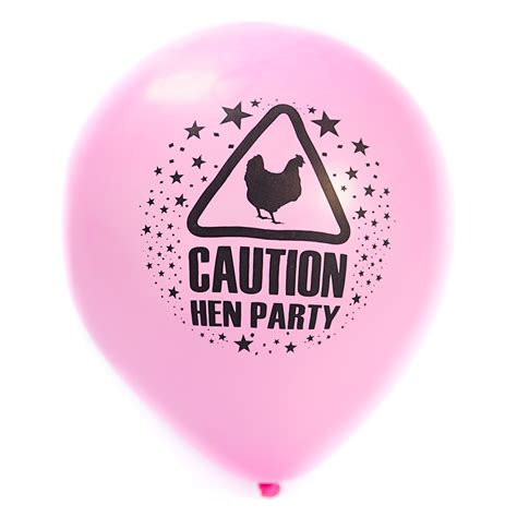 hen party pink hen party warning sign balloons 163 1 99 50 in