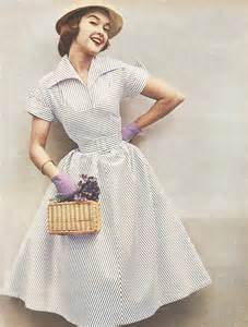 fashion styles for in their 50s 1950s stripe dress from the australian women s weekly