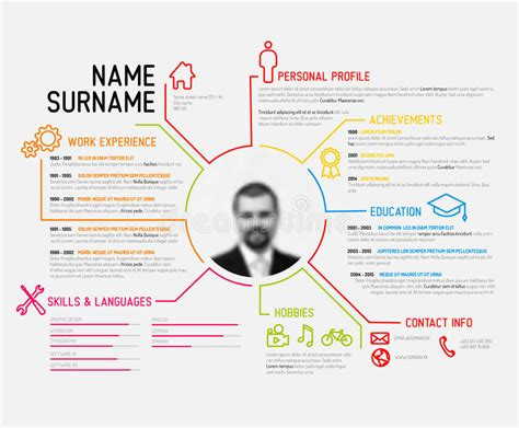 Resume Job Interview Sample by Original Cv Resume Template Stock Vector Image 50832729