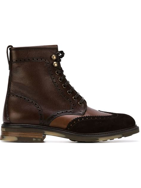salvatore ferragamo boots mens ferragamo maximo boots in brown for lyst