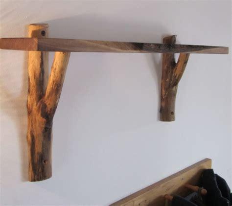 Wood Wall Shelves With Brackets Rustic Vintage Diy White Wooden Decorative Wall Shelves