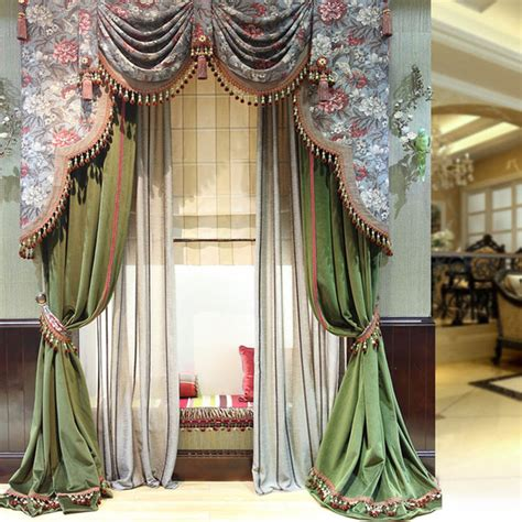 luxury drapery blinds shades shutters flower pattern the classical