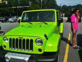 lime green jeep wrangler vehicles