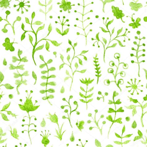 seamless pattern nature seamless watercolor nature pattern stock vector