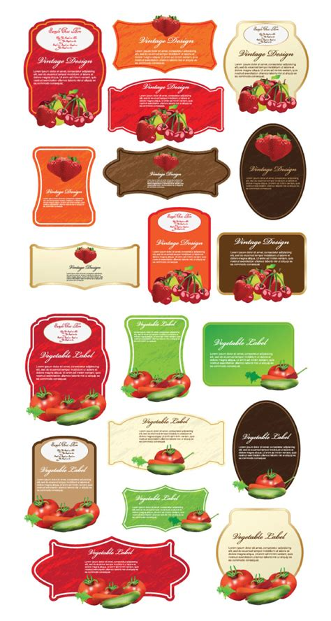 food product labels template product label templates vector free vector stock illustrations clip ai eps psd